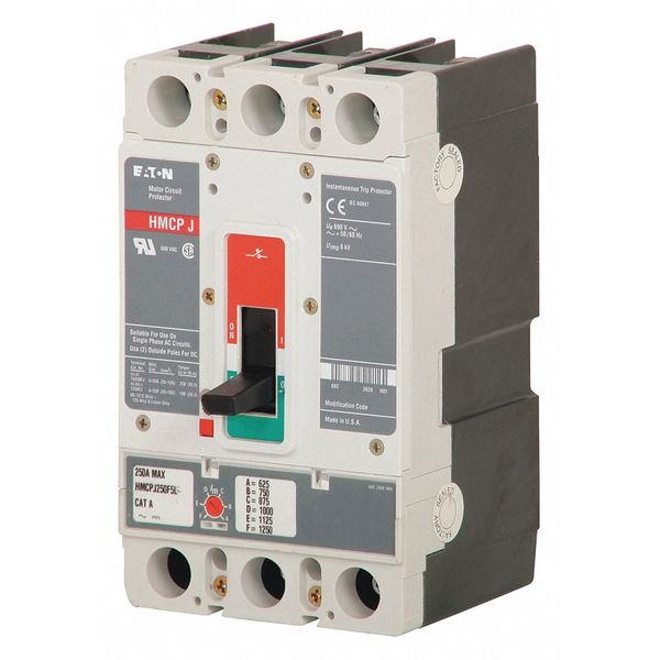 Eaton 100 A A Free Standing Standard Molded Case Circuit Breaker ,  600V AC HMCP100R3C