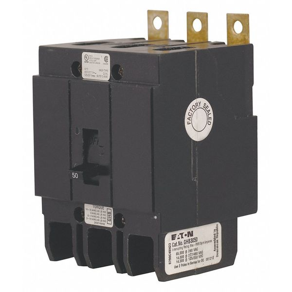Eaton 20 A Bolt On Standard Miniature Circuit Breaker ,  277/480V AC GHB3020