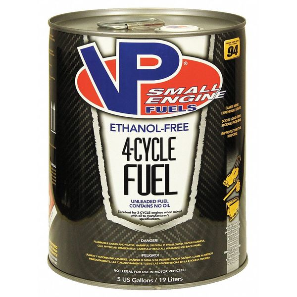 Vp Small Engine Fuels Small Engine Fuel,  4 Cycle,  5 gal. 6202