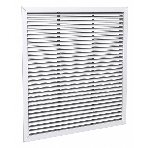 Price Lay-In Mount Return Air Grille ,  22 X 22 ,  White ,  Steel 530