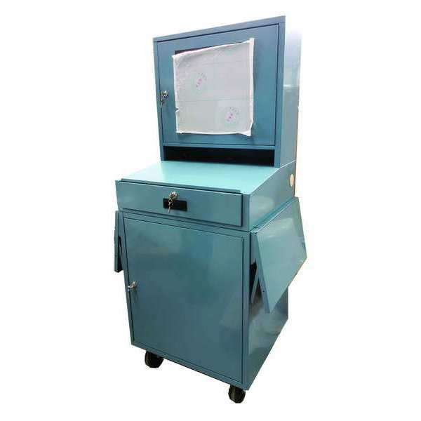 Zoro Select Mobile Computer Cabinet, Blue 462D24
