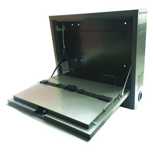 Zoro Select Laptop Security Cabinet, Gray, PC, Steel 462D25