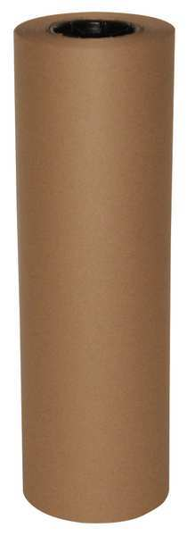 Zoro Select Recycled Kraft Paper 24 In. x 250 ft.,  40 lb. Basis Weight 48K981