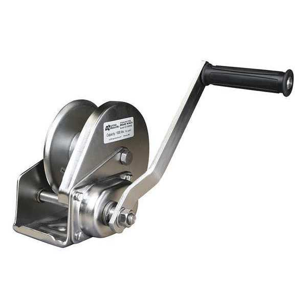 Oz Lifting Products Hand Winch, 1000 lb., 5-63/64 in.Overall W OZ1000BWSS
