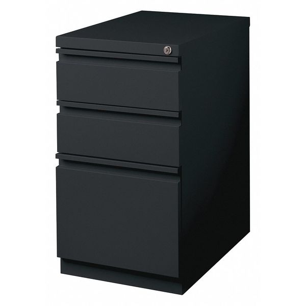 "Hirsh 15"" W 3 Drawer File Cabinet,  Black,   Letter 18575"