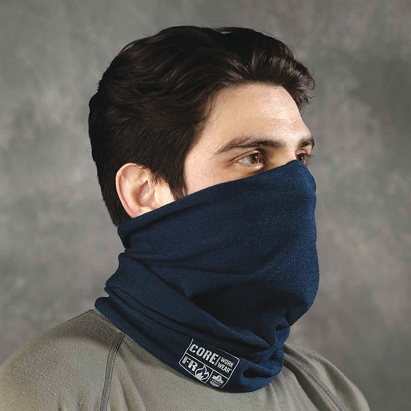 Chill-Its By Ergodyne Flame Resistant Neck Gaiter,  Navy,  Nomex IIIA 6486
