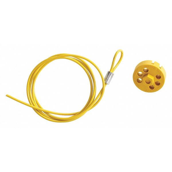Brady Cable Lockout, 5 ft. L Cable 122254