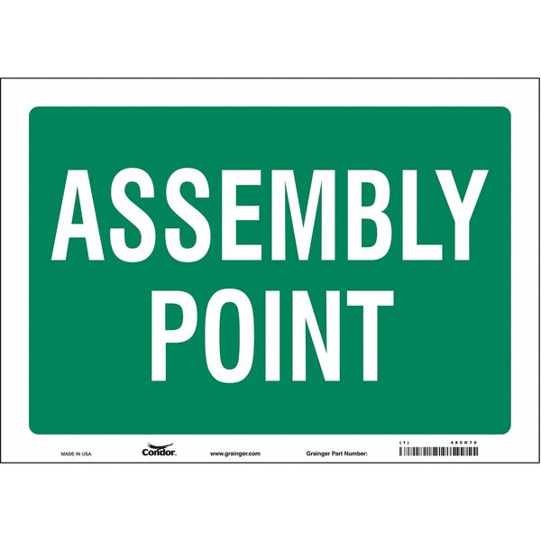 """Condor Safety Sign, 14"""" Wx10"""" H, 0.004"""" Thick 485H70"""