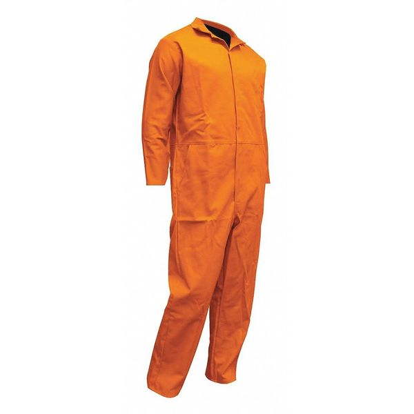 Chicago Protective Apparel Coverall, Cuff Open, Orange, XL 605-OS-XL
