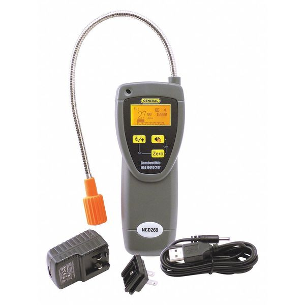 """General Tools Combustible Gas Detector, 20-1/2"""" H NGD269"""
