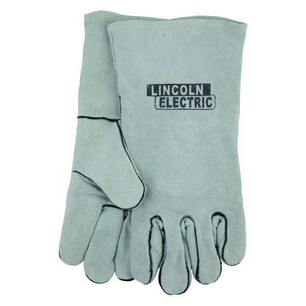 Lincoln Electric Welding Gloves, Gray, Leather, Universal, PR KH641