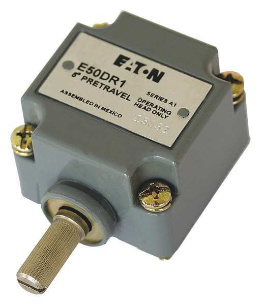 Eaton Cutler-Hammer Lmt Switch Hd, Rotary Lvr, Side, .63 In, 10A E50DR1