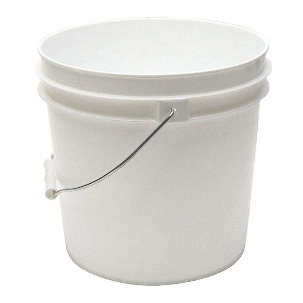 Zoro Select Pail,  2.0 gal.,  Open Head,  White ROP2120-WM