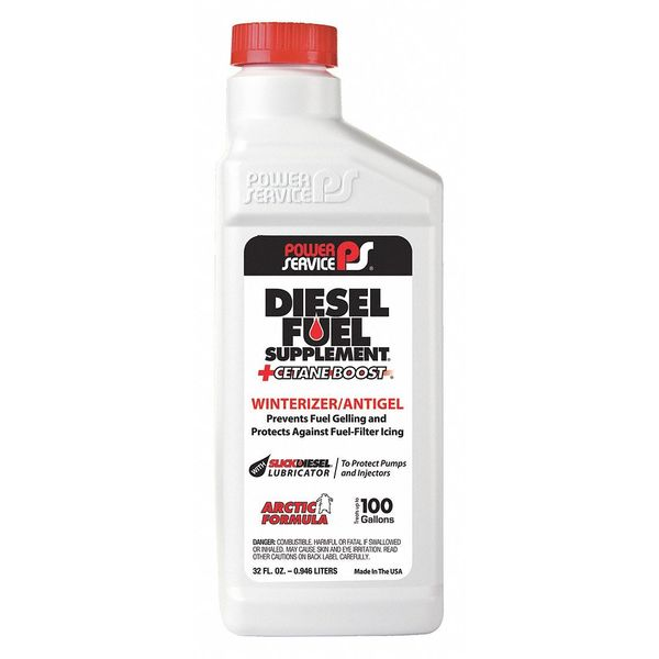 Power Service Products Diesel Fuel Supplement,  Amber,  32 oz. 1025-12