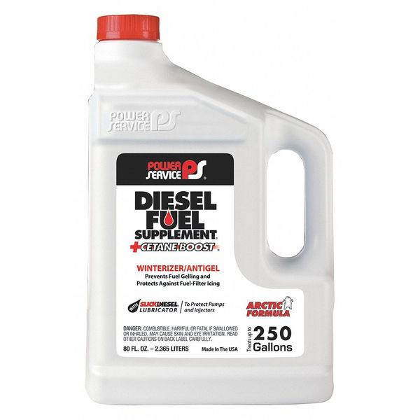 Power Service Products Diesel Fuel Supplement,  Amber,  80 oz. 1080-06