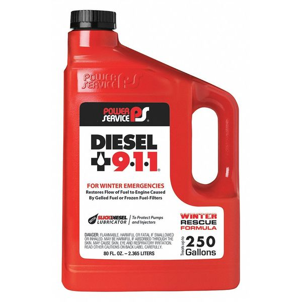 Power Service Products Diesel Fuel Additive,  80 oz. 08080-06