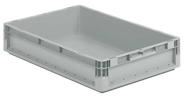 Ssi Schaefer Gray Straight Wall Container 24 in x 16 in x 5 in H,  1 PK ELB6120.GY1