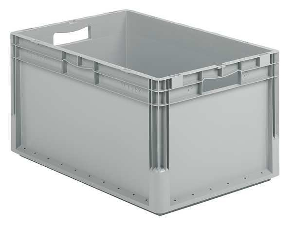 Ssi Schaefer Gray Straight Wall Container 24 in x 16 in x 13 in H,  1 PK ELB6320.GY1