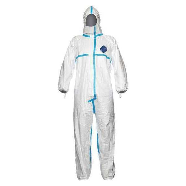Dupont Hooded Disposable Coveralls ,  Xl ,  White ,  Tyvek(R) 600 ,  TY198TWHXL0025PI