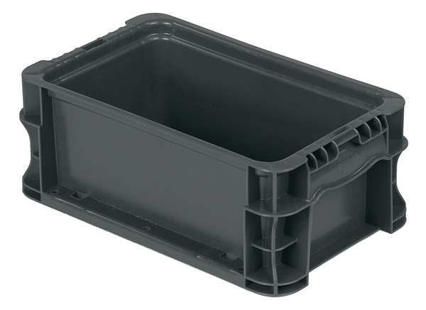 Orbis Gray Straight Wall Container 12 in x 7 2/5 in x 5 in H,  1 PK NSO1207-5 GRAY