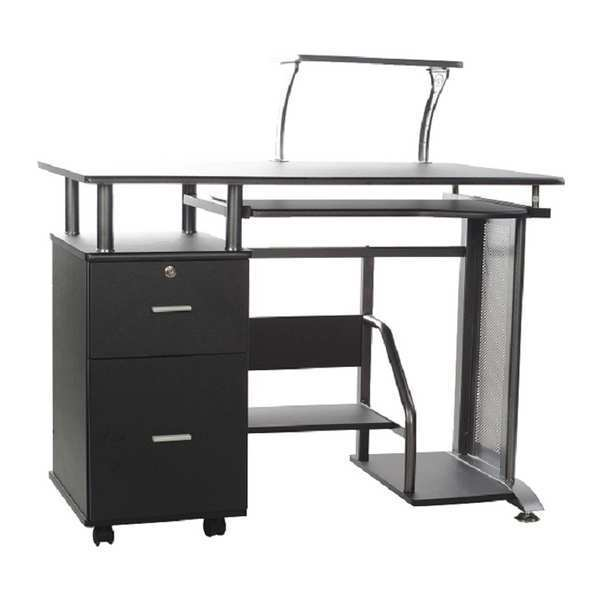 "Comfort Products Computer Desk,  23-1/2"" X 39.4"" X 38-1/2"",  Black,  PVC 50-100505"