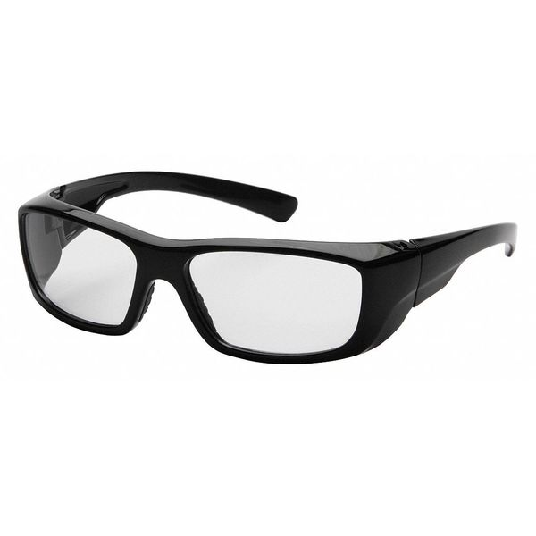 Pyramex Emerge Reader Eyewear Black Frame And Clear Scratch-Resistant Lens,  Diopter: +1.5 SB7910D15