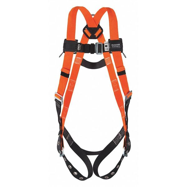 Honeywell Miller Full Body Harness,  Vest Style,  L/XL,  Polyester,  Orange T4500/UAK
