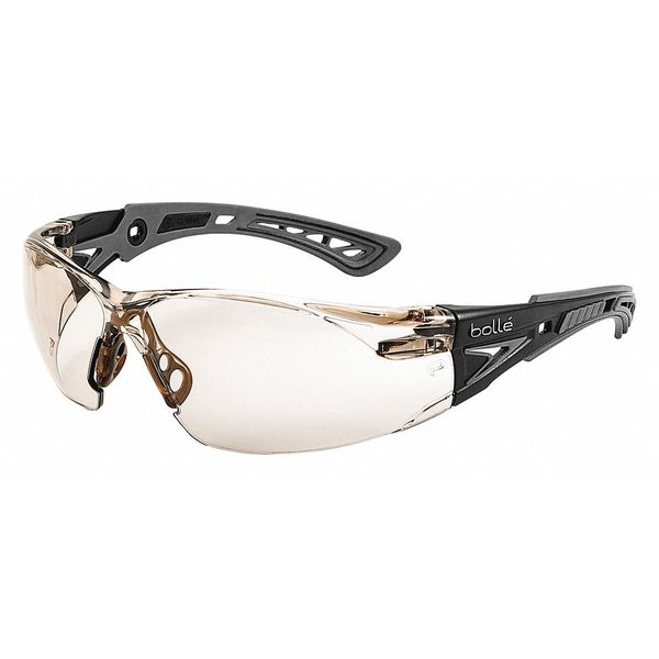 Bolle Safety Rush+ Safety Glasses,  Indoor/Outdoor Anti-Fog,  Scratch-Resistant Lens 40209