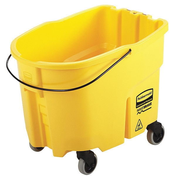 Rubbermaid Mop Bucket, 35 gal. Cap., Yellow, Plastic 2064914