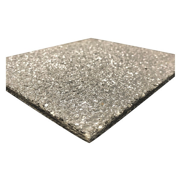 Direct Metals FiberPlate, Grit, Poly, Gry, 1/4 x 48 x48 In 250DGFIBPLTIFR-48X48