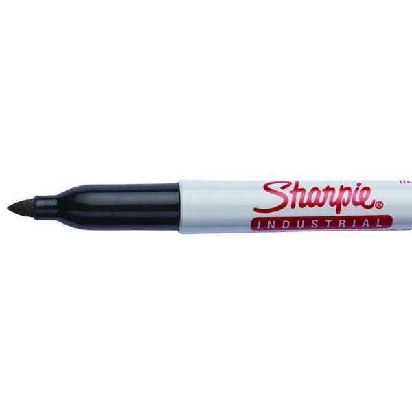 Sharpie Industrial Permanent Marker,  Fine Tip,  Black,  12PK 13601