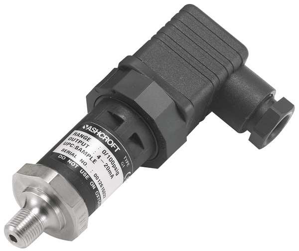 Ashcroft Pressure Transducer, Range 0 to 60 psi,  G17M0142DO60#
