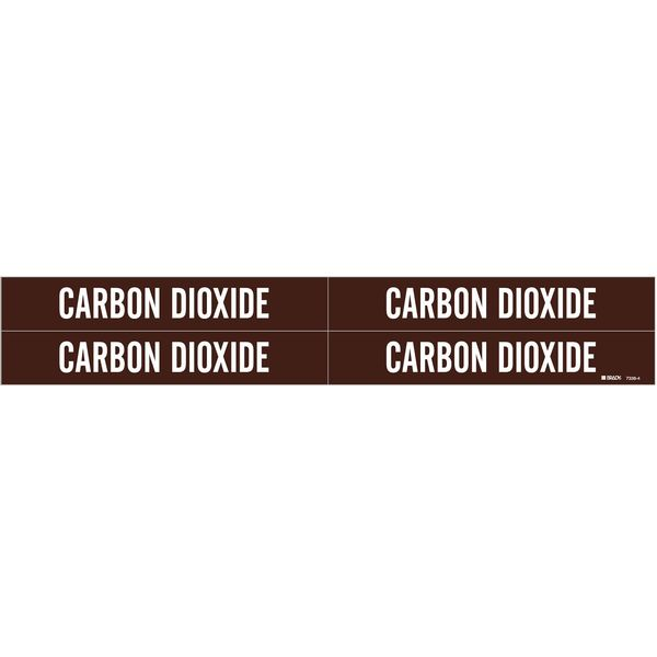 Brady Pipe MarkeCarbon Dioxide, B3/4to2-3/8 In 7338-4