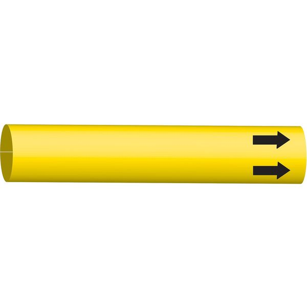 Brady Pipe Marker, (Blank), Yellow, 8 to 9-7/8 In 4010-G