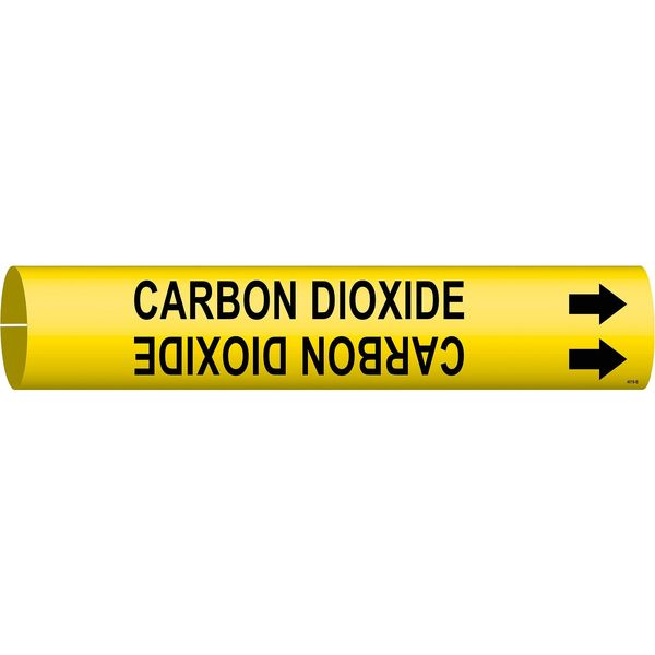Brady Pipe Mrkr, Carbon Dioxide, 1-1/2to2-3/8 In 4019-B