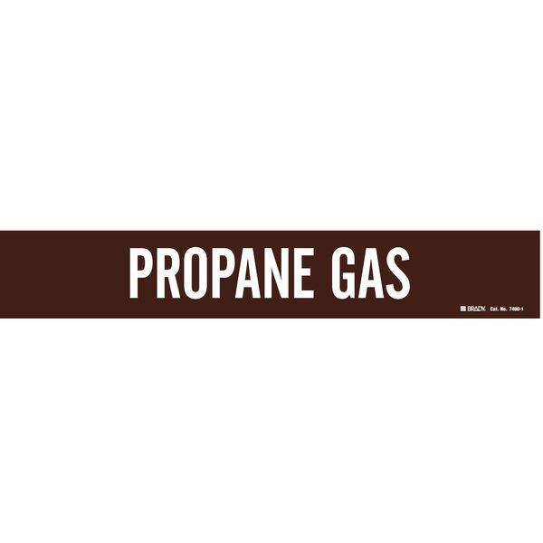 Brady Pipe Marker, Propane Gas, 2-1/2to7-7/8 In 7400-1