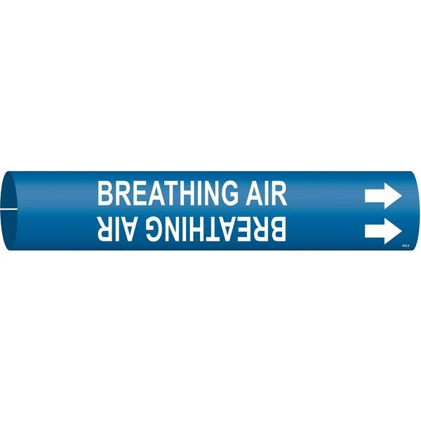Brady Pipe Marker, Breathing Air, 3/4to1-3/8 In 4302-A