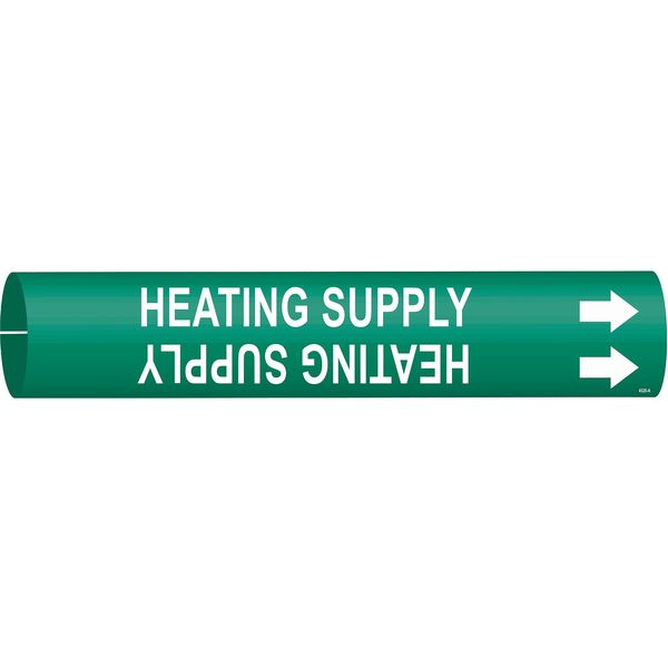Brady Pipe Markr, Heating SupplGn, 3/4to1-3/8 In 4326-A