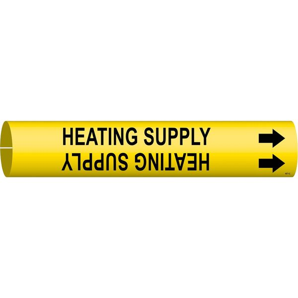 Brady Pipe Mrkr, Heating Supply, 2-1/2to3-7/8 In 4071-C