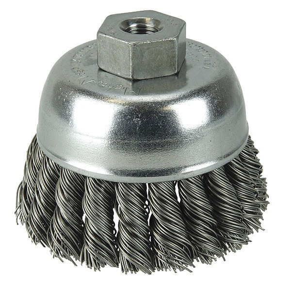 "Weiler Crimped Wire Cup Wire Brush,  2-3/4"" 96272"