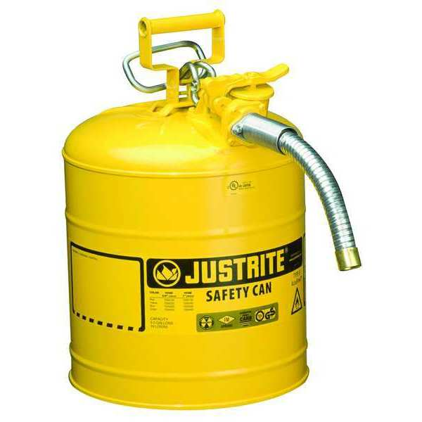 Justrite 5 gal. Yellow Steel Type II Safety Can for Diesel 7250230