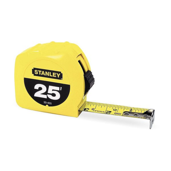 Stanley 25 ft Tape Measure,  1 in Blade 30-455