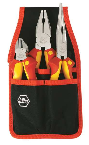 Wiha Tools Insulated Plier Set, 3 pc. 32873.G