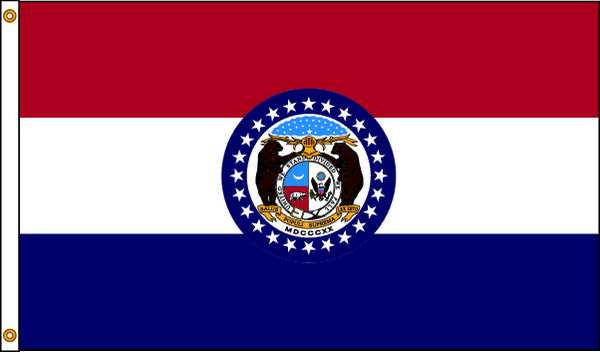 Nylglo Missouri Flag, 4x6 Ft, Nylon 142970