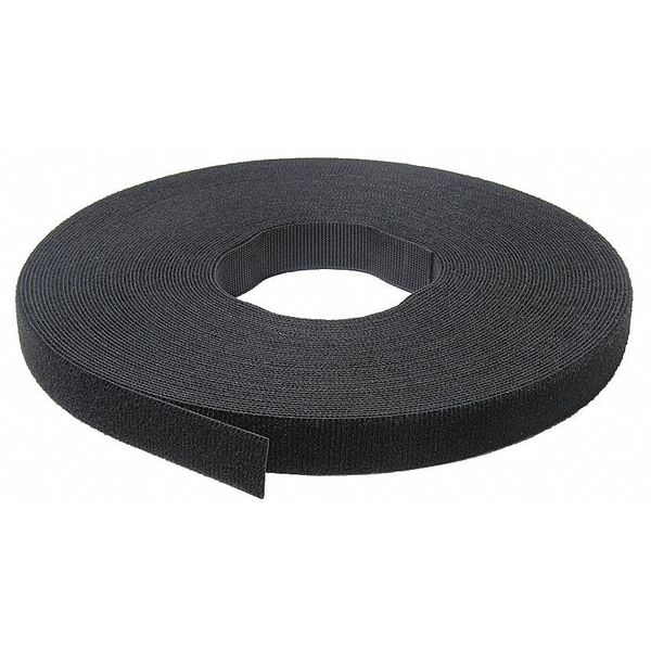 """Velcro Brand One-Wrap 1/2"""" W x 75' L Self-Mating Black One-Wrap Self Gripping Roll 189755"""