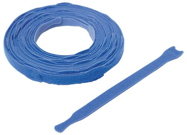 """Velcro Brand One-Wrap 3/4"""" W x 8"""" L Hook-and-Loop Blue One-Wrap Perforated Fastener Strap,  45 pk. 176040"""
