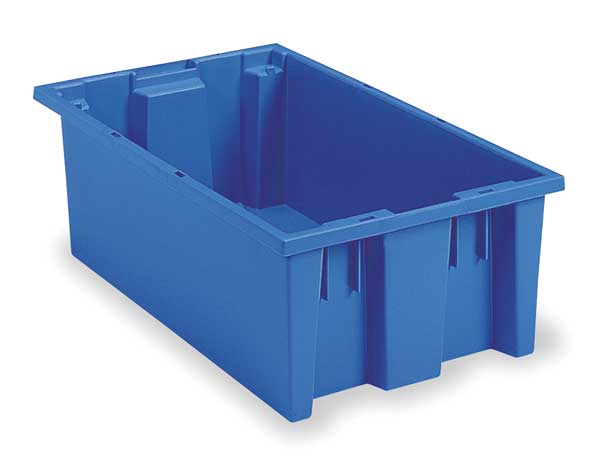 Akro-Mils Blue Stack and Nest Container 18 in x 11 in x 6 in H,  1 PK 35180BLUE