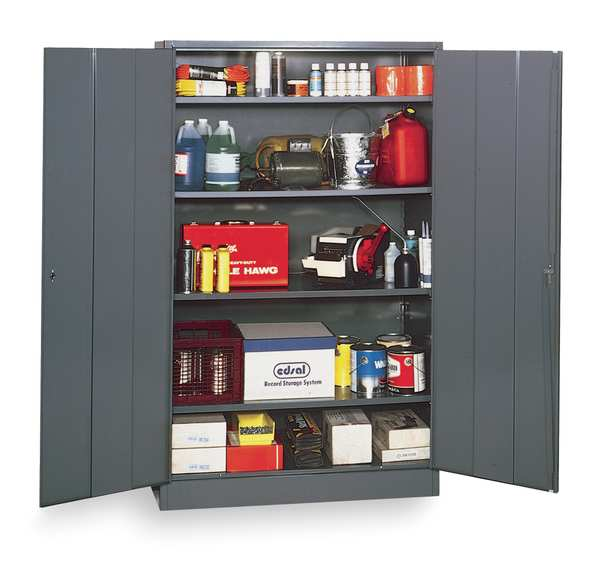 Edsal Storage Cabinet, Gray, 78 In H, 48 In W 1UFE8