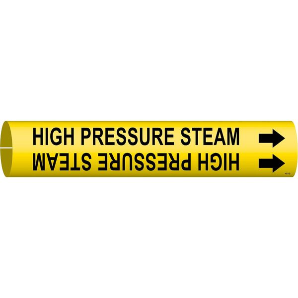 Brady Pipe Markr, High Pressure Steam, Y, 4to6 In 4077-D