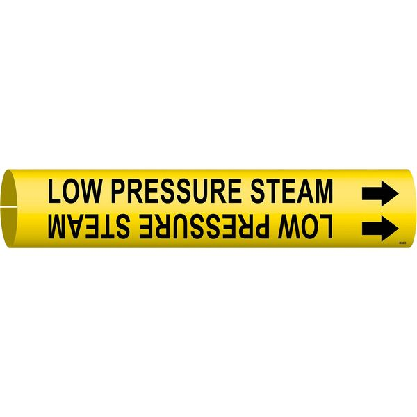 Brady Pipe Marker, Low Pressure Steam, Y, 4to6 In 4092-D